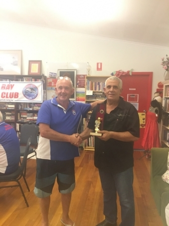 Joe Griscti Club Aggregate Runner Up 2017