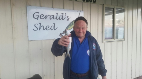 Peter Uren with Salmon