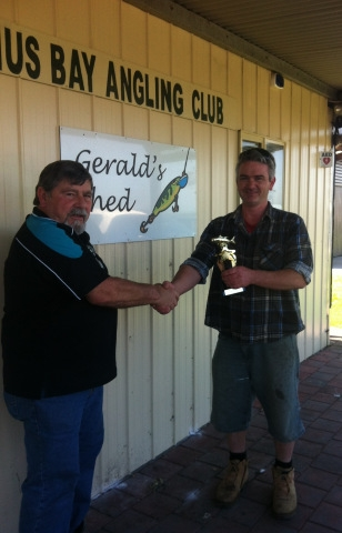 Mick & Doug 1st Place trophy