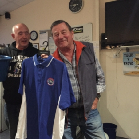 Nick with his new club shirt